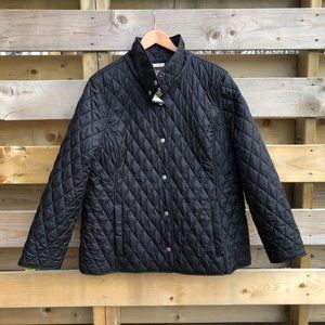 L.L. Bean quilted plaid lined riding jacket